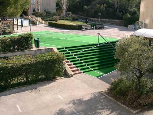 Laurent perbos documents d 39 artistes paca for Terrain de tennis taille